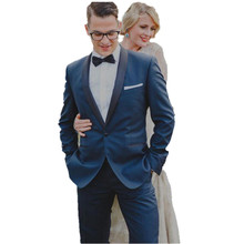 Custom Made Royal Blue Men Slim Fits Suits Tuxedos Grooms Suit Men's Wedding Suits Formal Party Suits