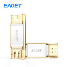 Eaget i60 OTG USB 3.0 100% 32 GB Flash Drives 64 GB Pen Drive memoria PC Tablet 128 GB Pendrive U Disco Stick Para iOS Para iPhone
