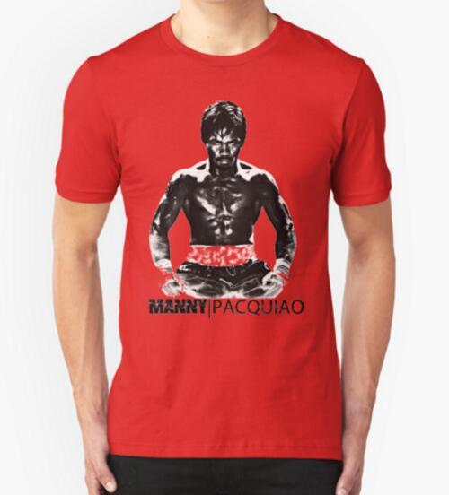 Manny Pacman Pacquiao DESTROY Floyd Mayweather T Shirt 100% Cotton Short Sleeve MMA T-shirt  Fashion tops tees