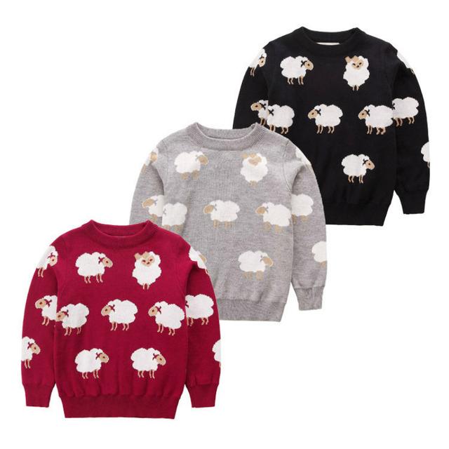 Chegam novas moda HM primavera & outono bonito ovelhas camisola das crianças camisola do bebê da criança das meninas dos meninos camisolas cardigan crianças 1-5 T