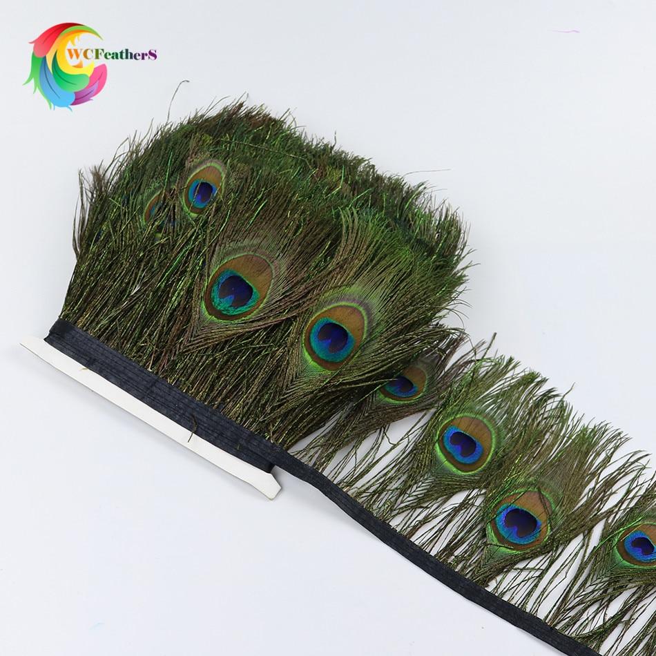 1 mètre belle plume De Paon Garnis oeil de paon costumes Collier boucles d'oreilles accessoires de mariage Décoratif plume