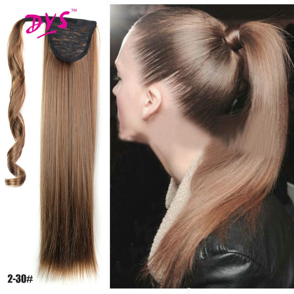 Deyngs Synthetic Drawstring Ponytail Hair Extensions Womens Long