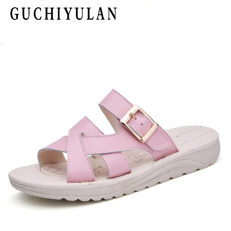 bohemian sandals ladies shoes Handmade Genuine Leather Sandals Women Summer Comfortable sandals for women Soft Flat Slippers