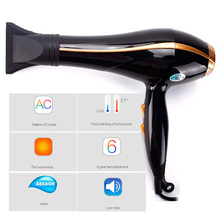 2600W Hair Dryer Professional Hairdryer Hot And Cold Wind Blower Styling Tools For Professional Salons With Nozzle #93911