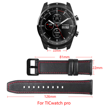 22mm leather/silicone watch bracelet for ticwatch pro Replacement watchband leather strap watch band watch accessories