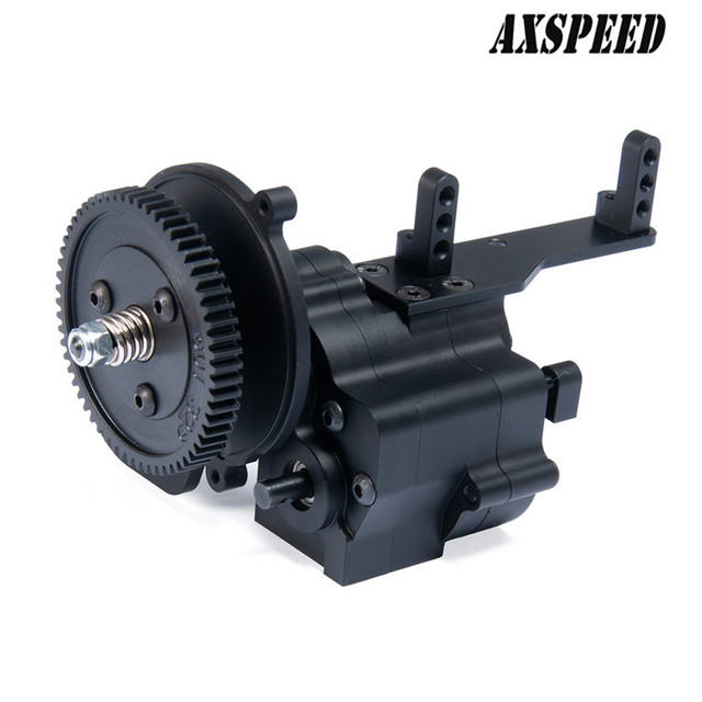 Alloy CNC Chassis Gear Box Transfer Case Center Gearbox Transmission 2 Speed For 1