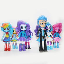 15cm Pony Girls Princess Action Figures Plastic PVC Model Collectible Toy Cartoon Birthday Christmas Gifts Toys for Children 4pcs lot 3 4cm new cool lilo and stitch toys cartoon movie stitch model mini pvc action figures toy for children creative gifts
