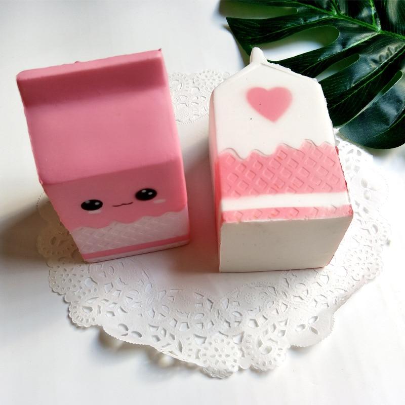 Cute Milk Carton Slow Rebound PU Decompression Toy Slow Rising Stress Reliever