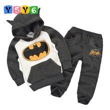 Retail Fashion2018 Children winter Outfits Tracksuit Batman Clothing Children Hoodies + Kids Pants Sport Suit Boys Clothing Set