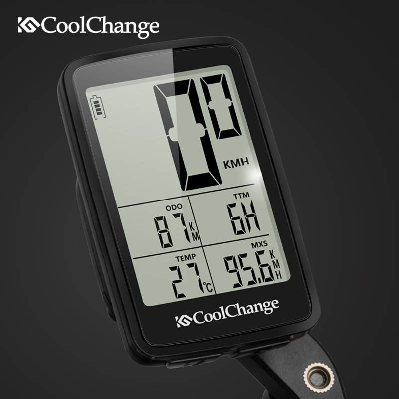 Image 5 - CoolChange Bicycle Computer Wired and Wireless Cycling Computer Speedometer Odometer Rainproof MTB Bike Computer USB RechargableBicycle Computer   -