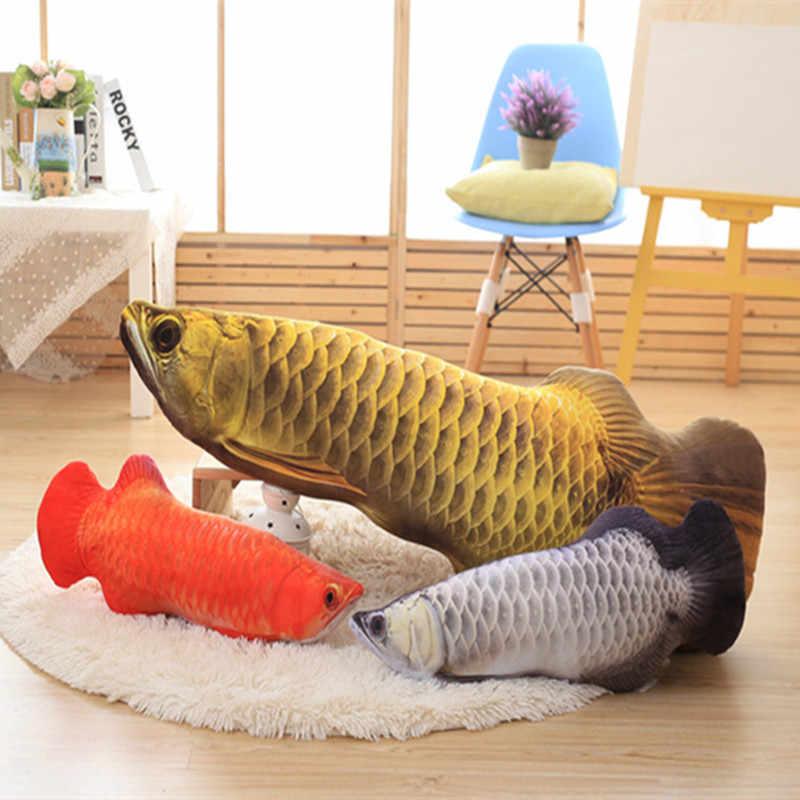 BZ403 3D Arowana mięta ryby pluszowe zabawki dekoracyjna poduszka rzuć poduszka z wewnętrznym Home Decor Sofa Emulational zabawki bez zamka