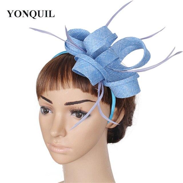 Fascinator FAI DA TE accessori per capelli cappello con piuma ornano  copricapo delle donne eleganti del 08a4ef28e087