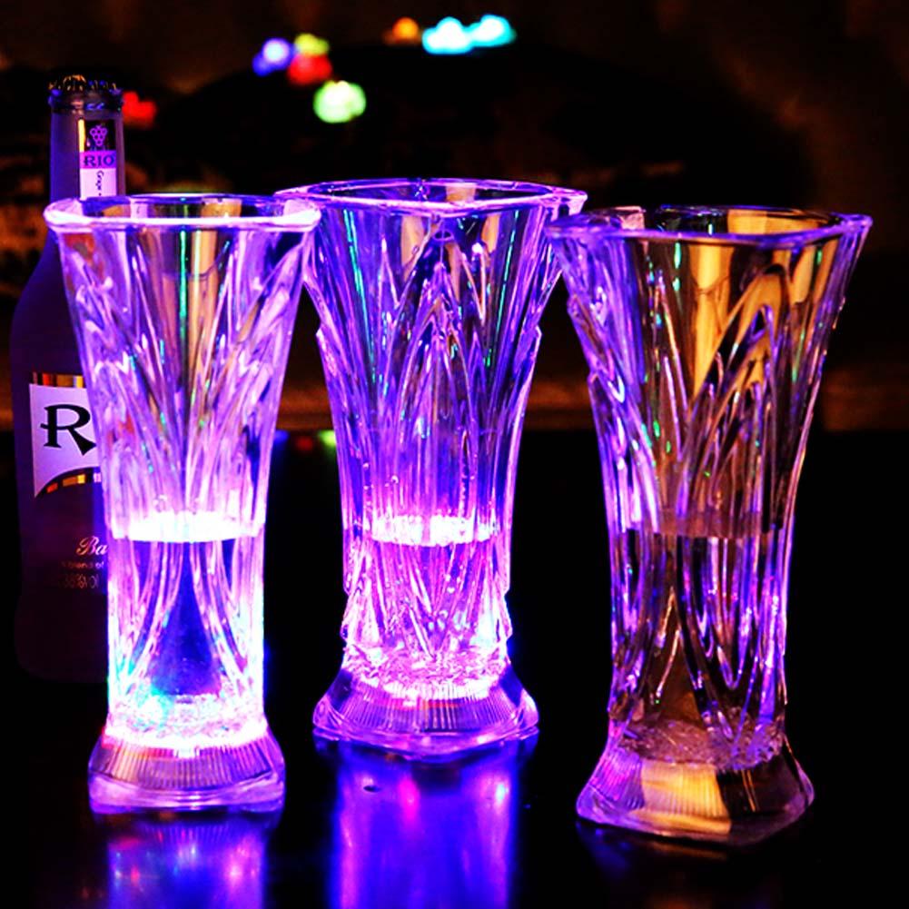 ▻Club nocturno intermitente vino taza luminosa inducción de agua ...