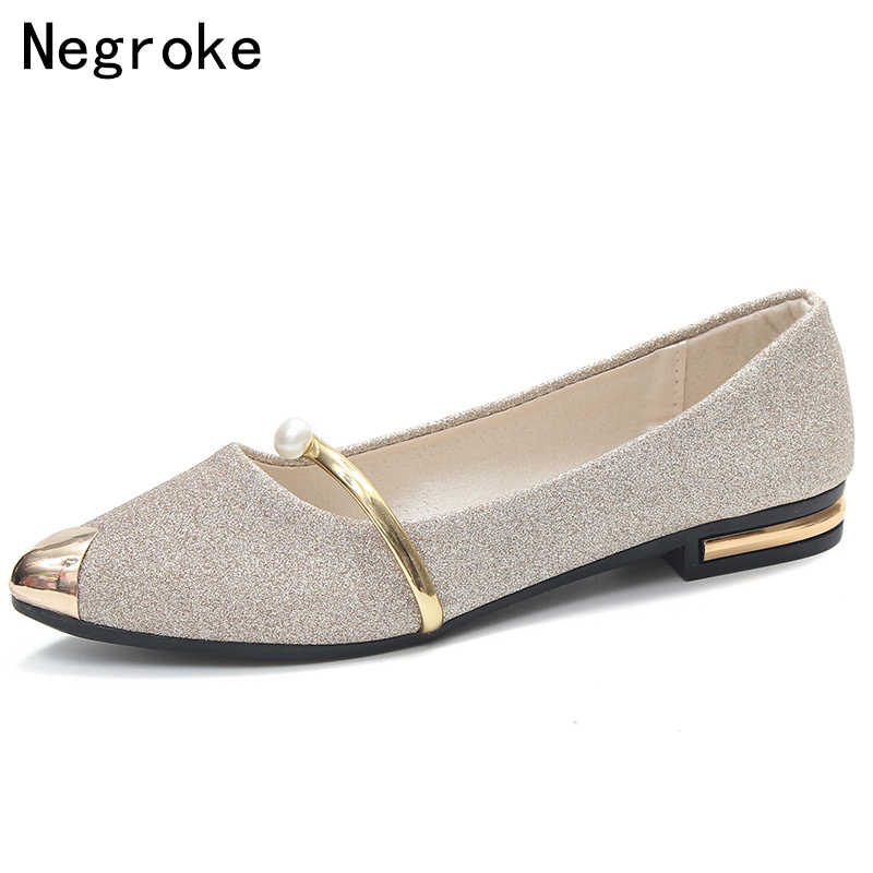 Office Shoes Women Tip Toe Shallow Mouth Rubber Sole Pumps Low Heel Solid  Color Wear- 81dd3990f