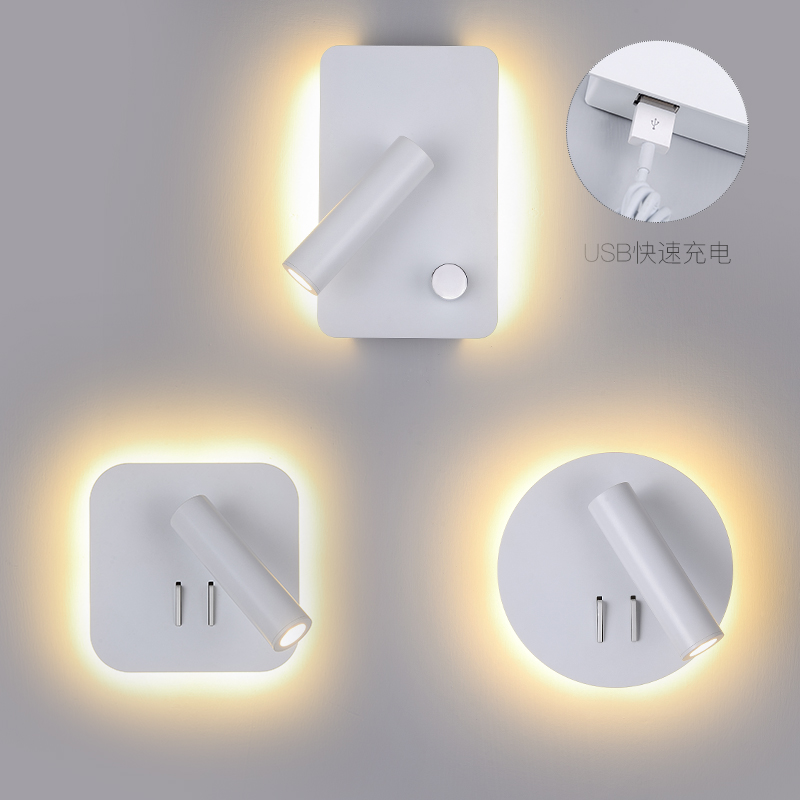 Wall lamp bedside lamp bedroom fashionable decoration simple personality hotel wall with switch Reading lampWall lamp bedside lamp bedroom fashionable decoration simple personality hotel wall with switch Reading lamp