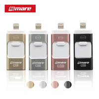 Smare 3in1 128GB 64GB 32GB 16GB Metal USB OTG iFlash Drive HD USB Flash Drives for iPhone for iPad for iPod and Android Phone