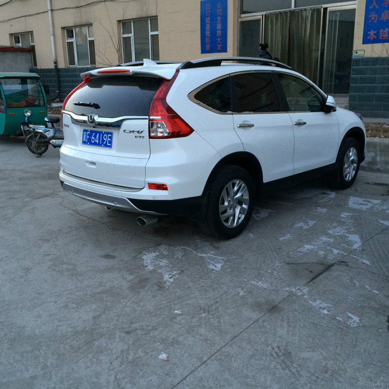 For Honda CRV Spoier 2012 2013 2014 2015 Car Tail Wing Decoration ABS Plastic Unpainted Primer Rear Trunk Roof Spoiler for toyota corolla 2014 2015 2016 2017 abs plastic unpainted primer tail trunk lip wing rear spoiler decoration car accessories
