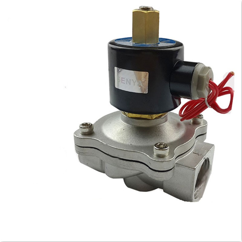 Stainless Steel 304 Solenoid Valve DN8 DN10 DN15 DN20 DN252 Road Pneumatic Normally Open Solenoid Valve for Water Oil