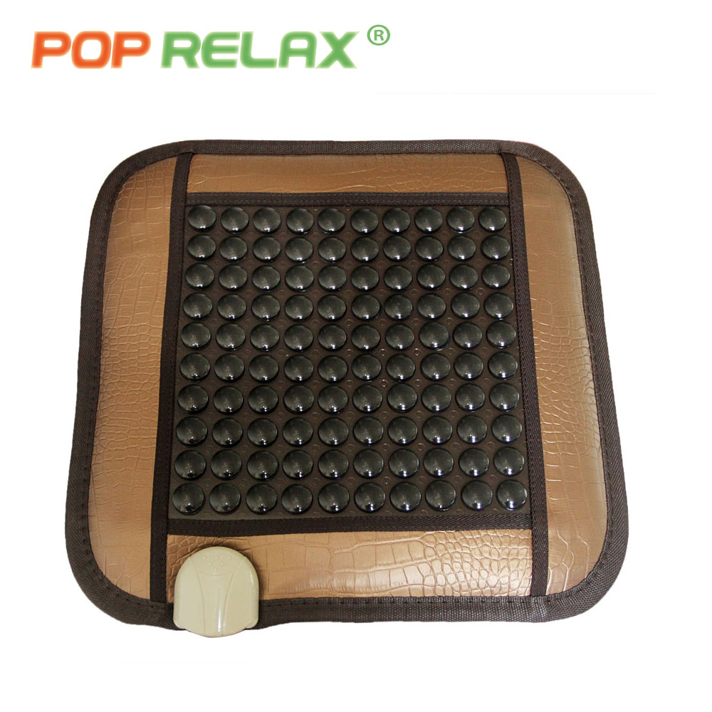 POP RELAX health care seat mattress tourmaline germanium jade roller far infrared electric heating computer chair sitting mat 2017 new natural jade germanium tourmaline stones infrared heating mat natural jade facial beauty massage tool jade roller