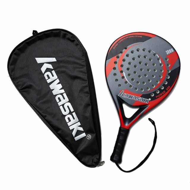 Kawasaki Padel Tennis In Fibra di Carbonio Morbido EVA Viso Da Tennis Paddle Racchetta Racchetta con Padle Sacchetto Della Copertura e Il Trasporto di Potere del Regalo 600 5