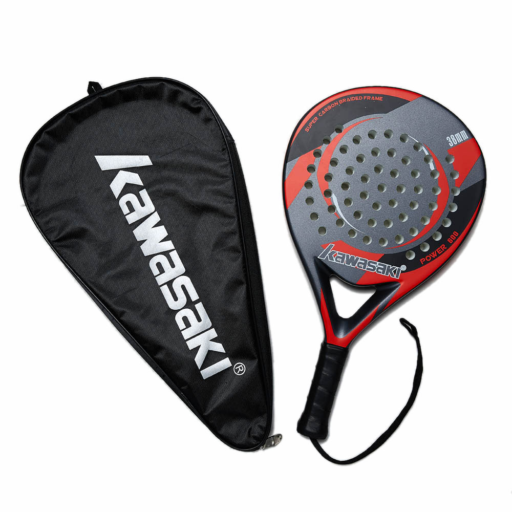 Kawasaki Padel Tennis Carbon Fiber Soft EVA Face Tennis Paddle Racquet Racket with Padle Bag Cover and Free Gift Power 600 in Tennis Rackets from Sports Entertainment