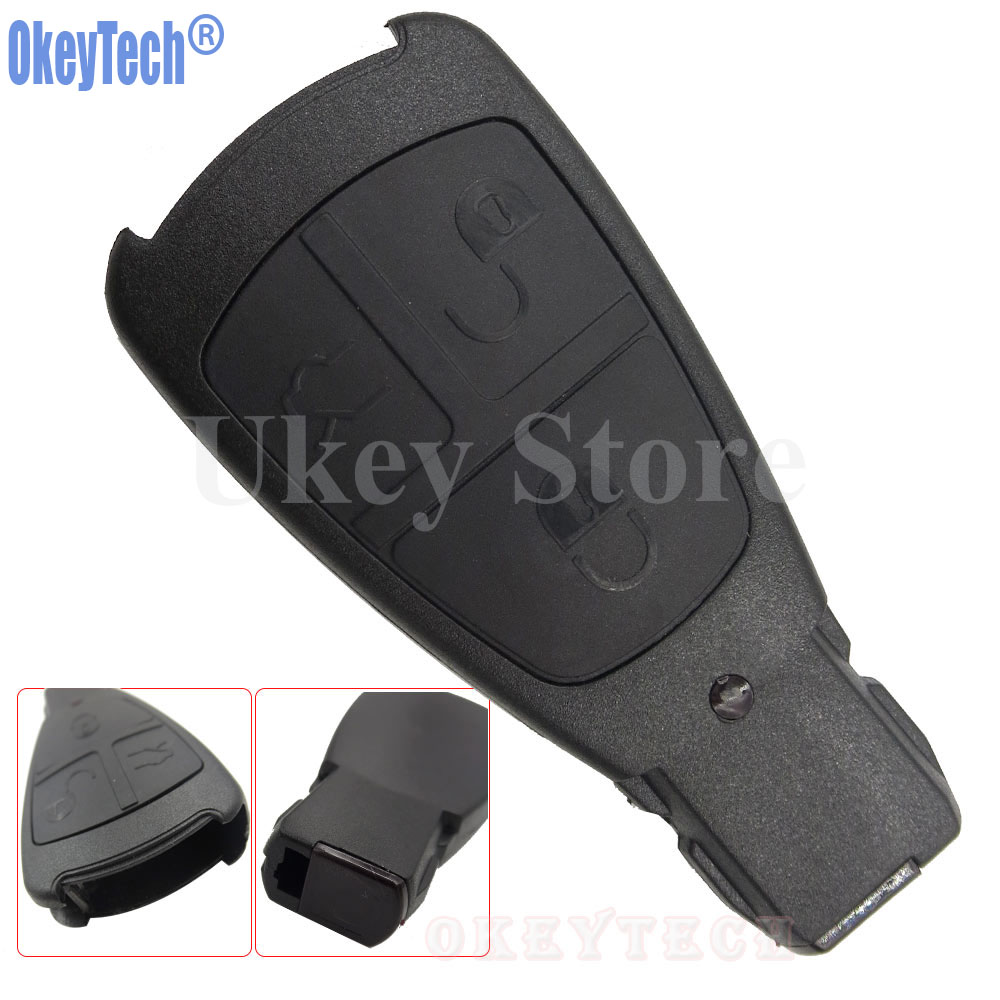 OkeyTech New Design Replacement Key Case for Mercedes Benz Remote Control Key Shell 3 Button Smart Key Fob Cover Free Shipping cheapest latest arrival benz ir code reader mercedes benz key programmer for reading key data mb key programmer free shipping