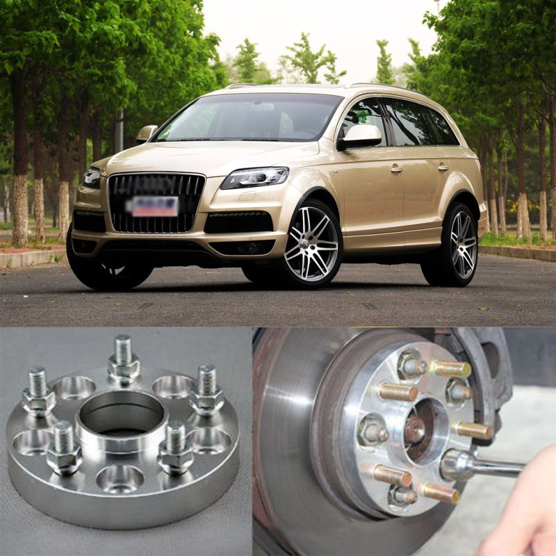 Teeze 4pcs New Billet 5 Lug 14*1.5 Studs Wheel Spacers Adapters For Audi Q7 2006-2014 christmas snowy santa sleigh print fabric waterproof shower curtain