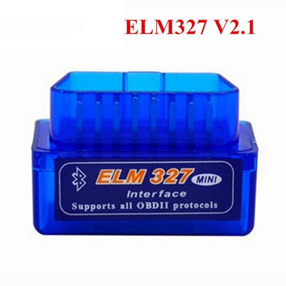 2018 Super-mini-elm327 Bluetooth V2.1 ULME 327 OBD2 Arbeits für Android Drehmoment/PC Unterstützung Alle Protokolle OBD2 Mit Multi-sprachen