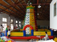 2016 Giant Inflatable Climbing Wall With Best Quality For Entertainment