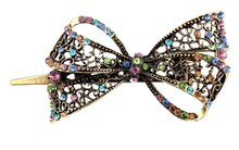 JEYL Hot Lovely Vintage Jewelry Crystal Bowknot Hair Clips Hairpins- For Hair Clip Beauty Tools