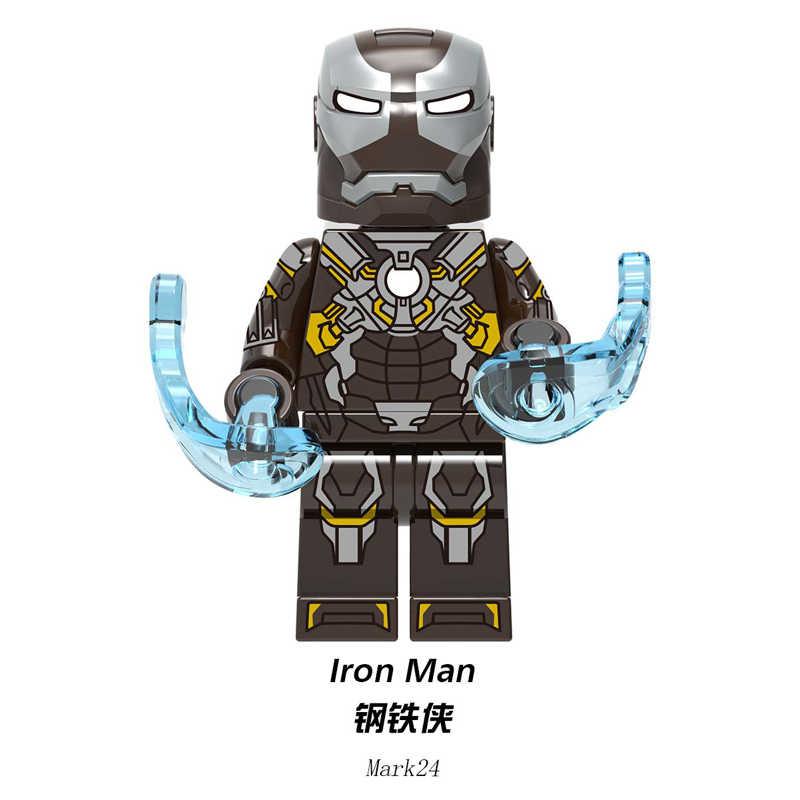 Duplo Tijolos de Blocos De Construção de Super Heróis Homem De Ferro Tony Stark Mark Mark 31 24 Mark 29 Figuras Brinquedos Presente Para crianças XH1224