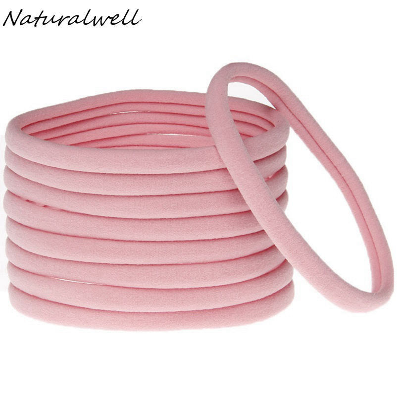 Naturalwell 10Pcs Nylon Headband for Girl Hair Accessories Elastic Hair Bands Kid Children Fashion   Headwear   bandage HB156D