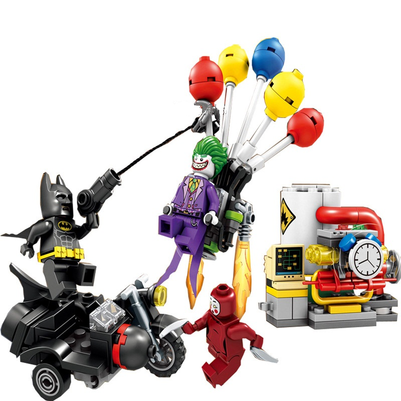New Super Heroes Movie The Joker Balloon Escape DIY Model Building Kit Blocks Gifts 70900 font