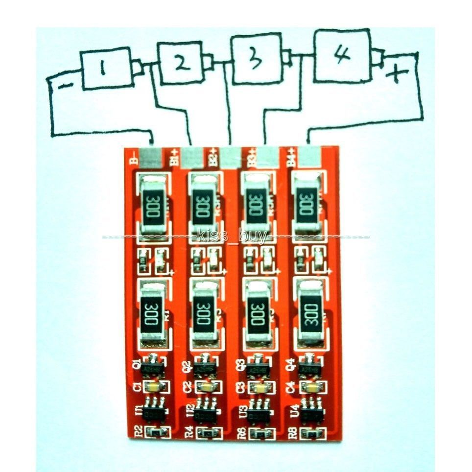 Battery BMS Charging Protection Board With  Balance For 1s 2s 3s 4s Cell 3.2V LiFePo4  Lithium Iron Phosphate Battery