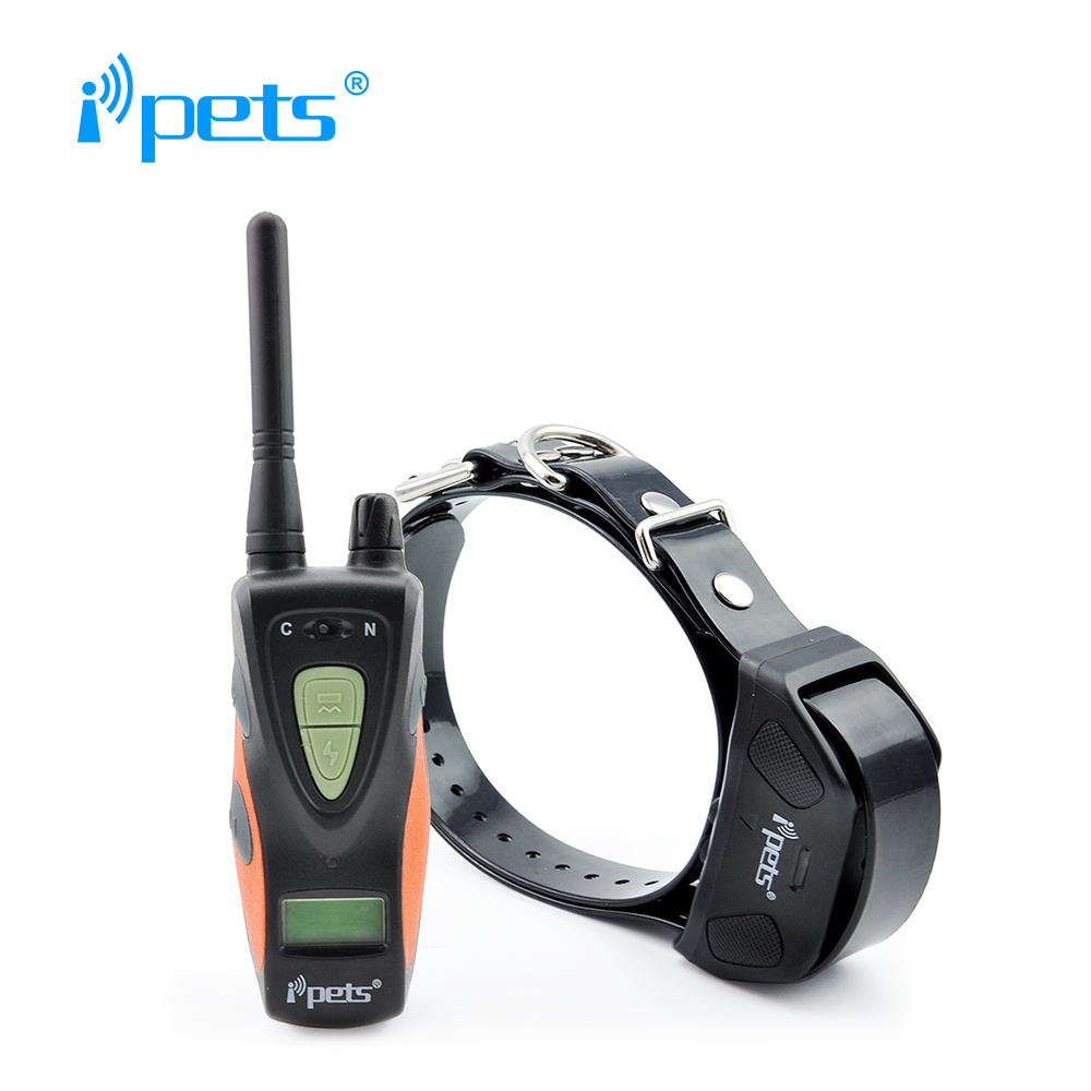 Ipets 617 1 New Waterproof pet dog products blue backlight LCD Display 800M remote training collar