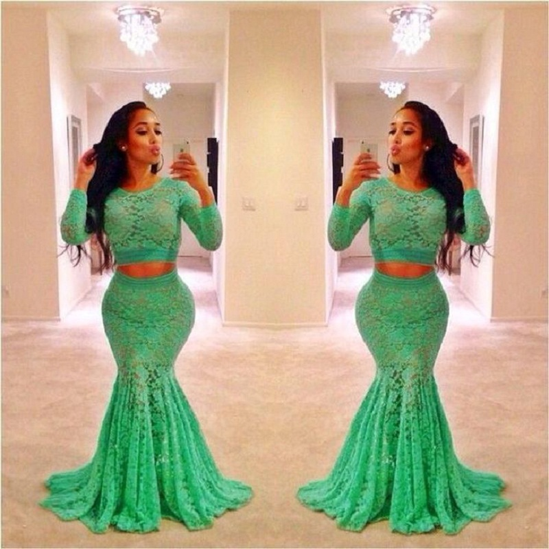 Popular Long Sleeve Prom Dresses Plus Size-Buy Cheap Long Sleeve ...