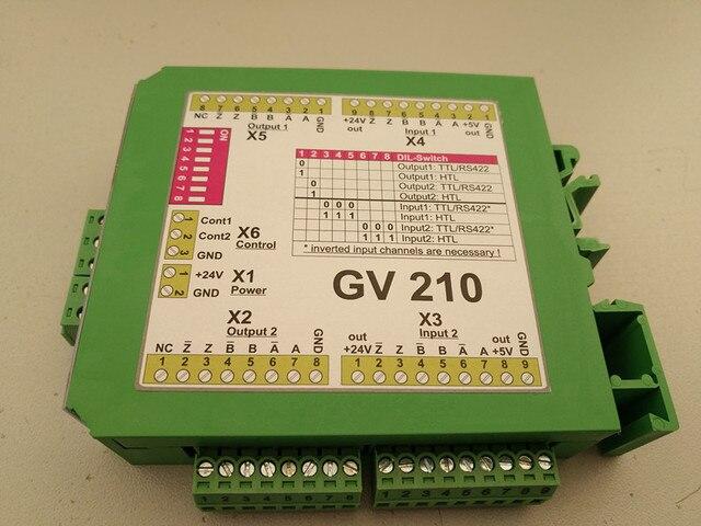 Motrona GV204 GV210 GV470 GV471 darbe sinyal Splitter Switcher diferansiyel tek uçlu HTL TTL artımlı enkoder distribütörü