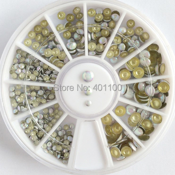 Wholesales 100 Wheels 1000 Pcs Nail Rhinestone Beads Decoration For Nail Art DIY 3D Decoration Nail Polish Acrylicstone D0883XX