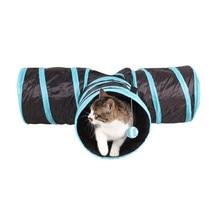3 WAY Y Форма Складная Pet Puppy Животных Кот Котенок Играть Игрушка Упражнение Tunnel Пещера Cat Игрушки