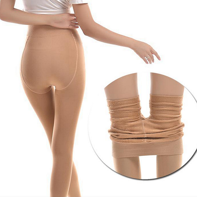 120D Thick Soft Fleece With Velvet Keep Warm Slimming Legs Pantyhose,anti Hook Add-crotch  Pantyhose,M-L