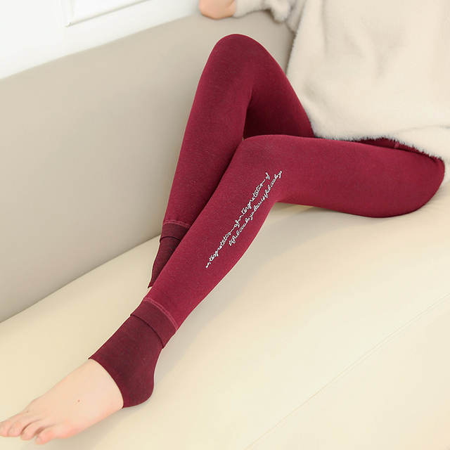 Calças Leggings de veludo Inverno Maternidade Roupas para Mulheres Grávidas Gravidez Quente Malha Cintura Alta Suspender Calças B351