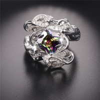 Promotion Wedding Ring Jewelry Mermaid Ring Multi Birthstone 925 Sterling Silver For Women Size 5 10