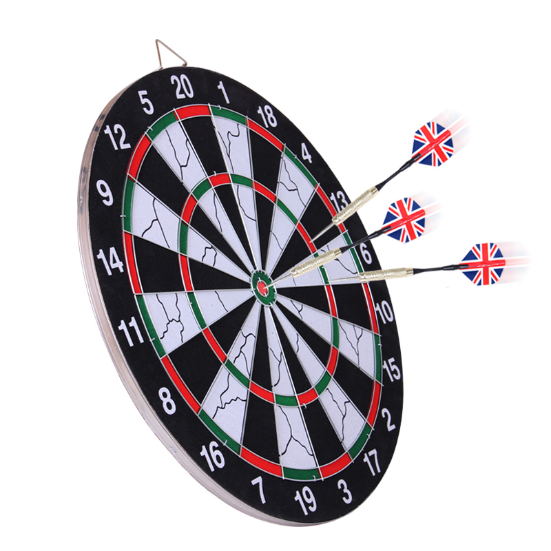 new indoor 15 inch sport double target dart magnetic flocking dartboard board double thickening for wholesale and freeshipping