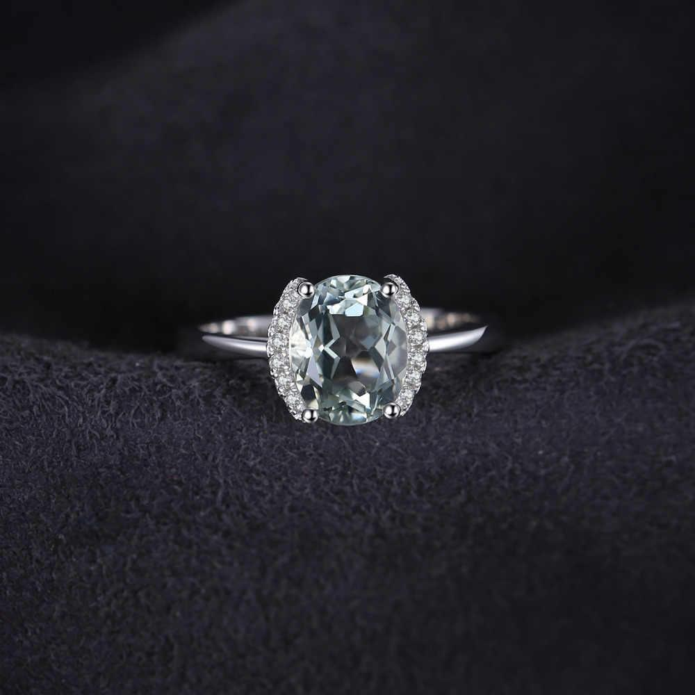 Jewelrypalace Марка овальные 1.8ct натуральный камень зеленый аметист Обручение кольцо для Для женщин Чистая стерлингового серебра 925 Винтаж ювелирные изделия