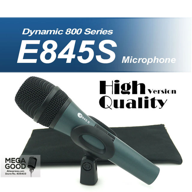 Free Shipping High Quality Version E845 Professional Dynamic Cardioid Vocal Handheld Karaoke Wired Microphone microfone Mike Mic