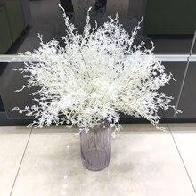 Artificial flowers branch home wedding Christmas tree decorations smoky grass fog flowers