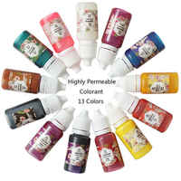 13 Pcs New 13 Colors Of Dye Glue Crystal Epoxy UV For Resin Hard Curing Sunlight Activated Hard Type DIY Craft Supplies