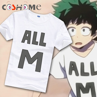 Cosworld Boku No Hero Academia T Shirt Short Sleeve Tee Shirt My Hero Academia Izuku Midoriya