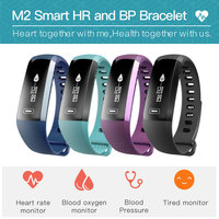 M2 Blood Pressure Smart Band Heart Rate Sleep Activity Fitness Tracker Multi Function Waterproof Bluetooth Bracelect