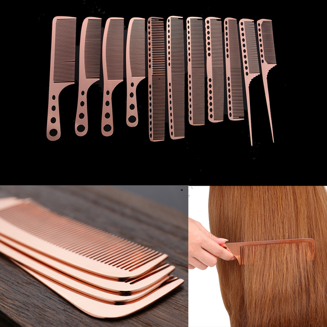 11Style Stainless Steel Hair Combs Professional Hairstyling ...
